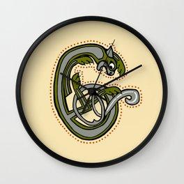 Celtic Cat Letter C 2019 Wall Clock
