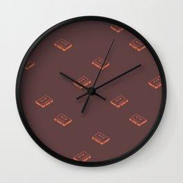 Cassette Pattern- Brown Wall Clock