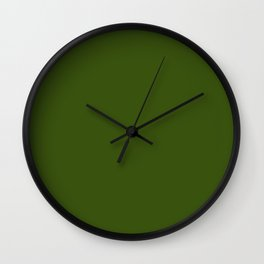 Simply Solid - Juniper Green Wall Clock