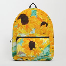 watercolor sunflower pattern 2019 Backpack