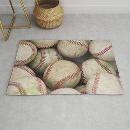 Many Baseballs - Background pattern Sports Illustration Rug