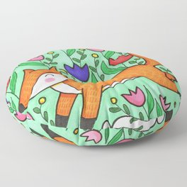 Spring In Your Step Fox Floor Pillow