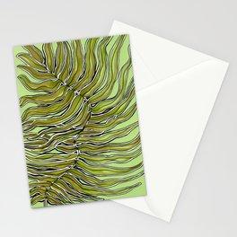 Green Leafy Zen Leaf Stationery Cards