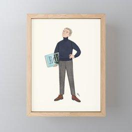 mr. McQueen Framed Mini Art Print