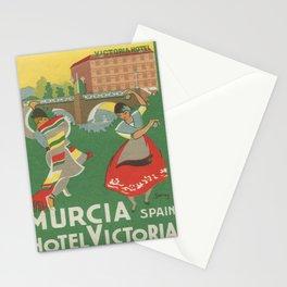 Werbeplakat hotel victoria murcia hotel Stationery Cards