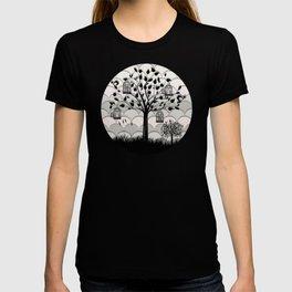 Paper landscape B&W T-shirt