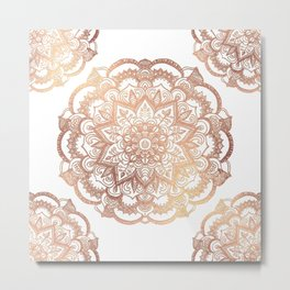 Mandala Rose-Gold Shine I Metal Print