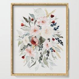 Loose Watercolor Bouquet Serving Tray