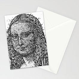 MONA LISA after LEONARDO DA VINCI - ink version Stationery Cards
