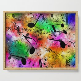 Dancing Musical Notes  Serving Tray