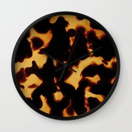 Tortoise Shell II Wall Clock