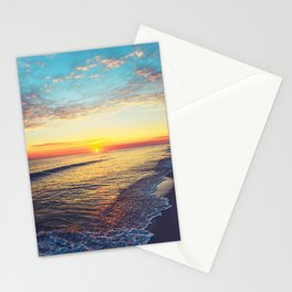 Summer Sunset Ocean Beach - Nature Photography Stationery Cards