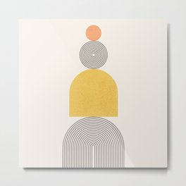 Abstraction_NEW_SUN_MOUNTAIN_BALANCE_POP_ART_M0313A Metal Print