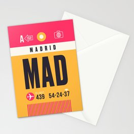 Baggage Tag A - MAD Madrid Barajas Spain Stationery Cards