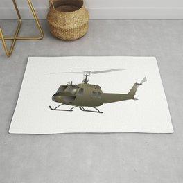 UH-1 Huey Helicopter Rug