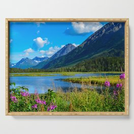 God's Country - II, Alaska Serving Tray