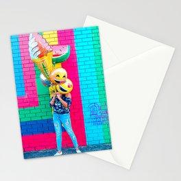 Emoji Takes A Walk Stationery Cards