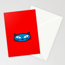 Blue Kitty Stationery Cards
