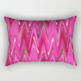 Zigzag Bright Pink Rectangular Pillow