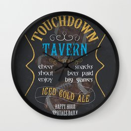 Touchdown Tavern Wall Clock