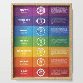 7 Chakras Poster & Illustration #18 Serving Tray