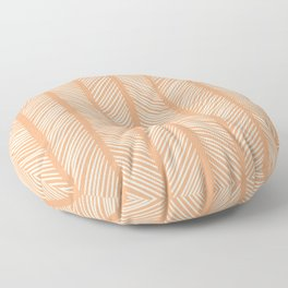 Cantaloupe Herringbone 2 Floor Pillow