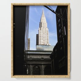 A Different View. Photograph of the Empire State Building Shot from Grand Central Station. Serving Tray