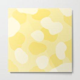 Yellow abstract dots Metal Print