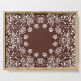 brown Mandala Serving Tray