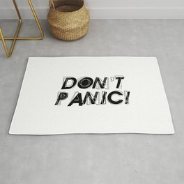 Don't panic, keep calm, relax and stay strong, emotional typography print Rug