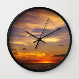 Majestic Sunrise Over South Pacific Wall Clock