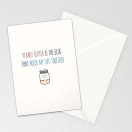 Peanut butter vegan Stationery Cards