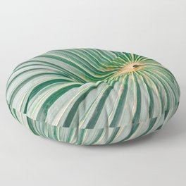 Palm up close | Botanical finea art photography print | Shades of green Floor Pillow