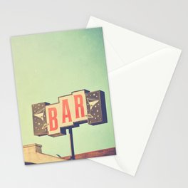 Bar sign photograph Stationery Cards