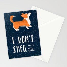 Corgi Glitter - Pembroke Welsh Corgi Stationery Cards