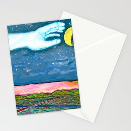 Moon Grab Stationery Cards