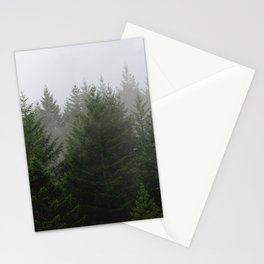 Foggy Trees Pacific Northwest Stationery Cards