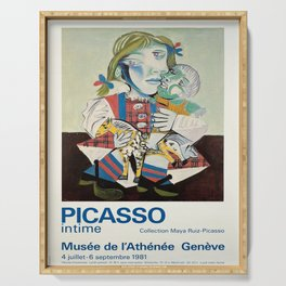 oude picasso intime musee de lathenee Serving Tray