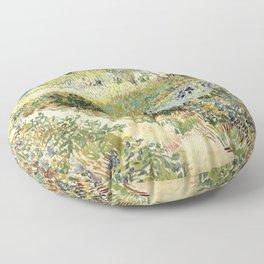 Vincent Van Gogh : Garden at Arles Floor Pillow