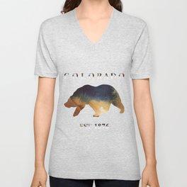 Watercolor Bear Colorado Established 1876 Unisex V-Neck
