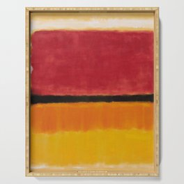 1949 Untitled (Violet, Black, Orange, Yellow on White and Red) by Mark Rothko Serving Tray