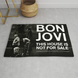 BON JOVI HOUSE NOT FOR SALE COVER CUPU Rug