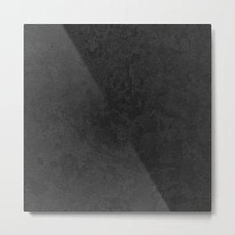 Marble Granite - Classic Sleek Slate Charcoal Black Metal Print