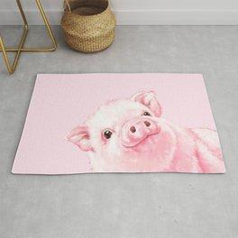 Sneaky Baby Pink Pig Rug