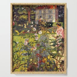 Edouard Vuillard - Garden Of Vaucresson - Digital Remastered Edition Serving Tray