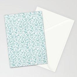 Mint Watercolor Dots - Aqua, Teal, Mint, Blue Stationery Cards