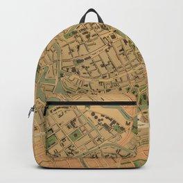 Vintage Groningen Netherlands Map (1903) Backpack