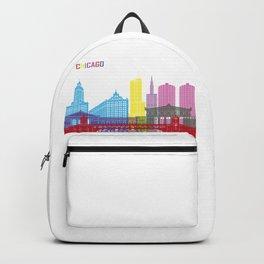 Chicago skyline pop Backpack