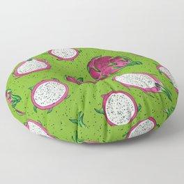 Red dragon fruit on green Floor Pillow
