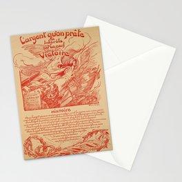 vintage placard largent quon prete a interets est Stationery Cards